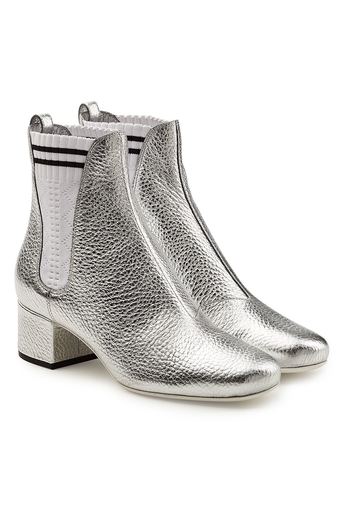 Metallic Leather Ankle Boots Gr. IT 39