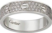 CRB4083400 - Alliance LOVE pavée - Or gris, diamants - Cartier
