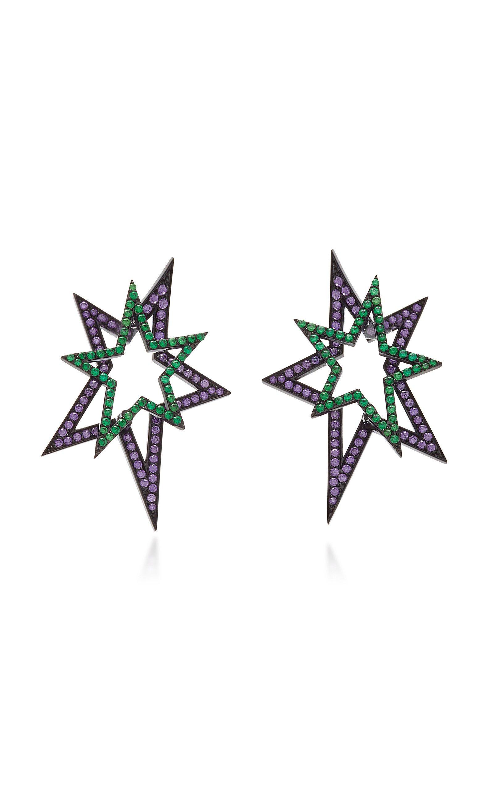 Lynn Ban Jewelry FRONT & BACK STAR STUD