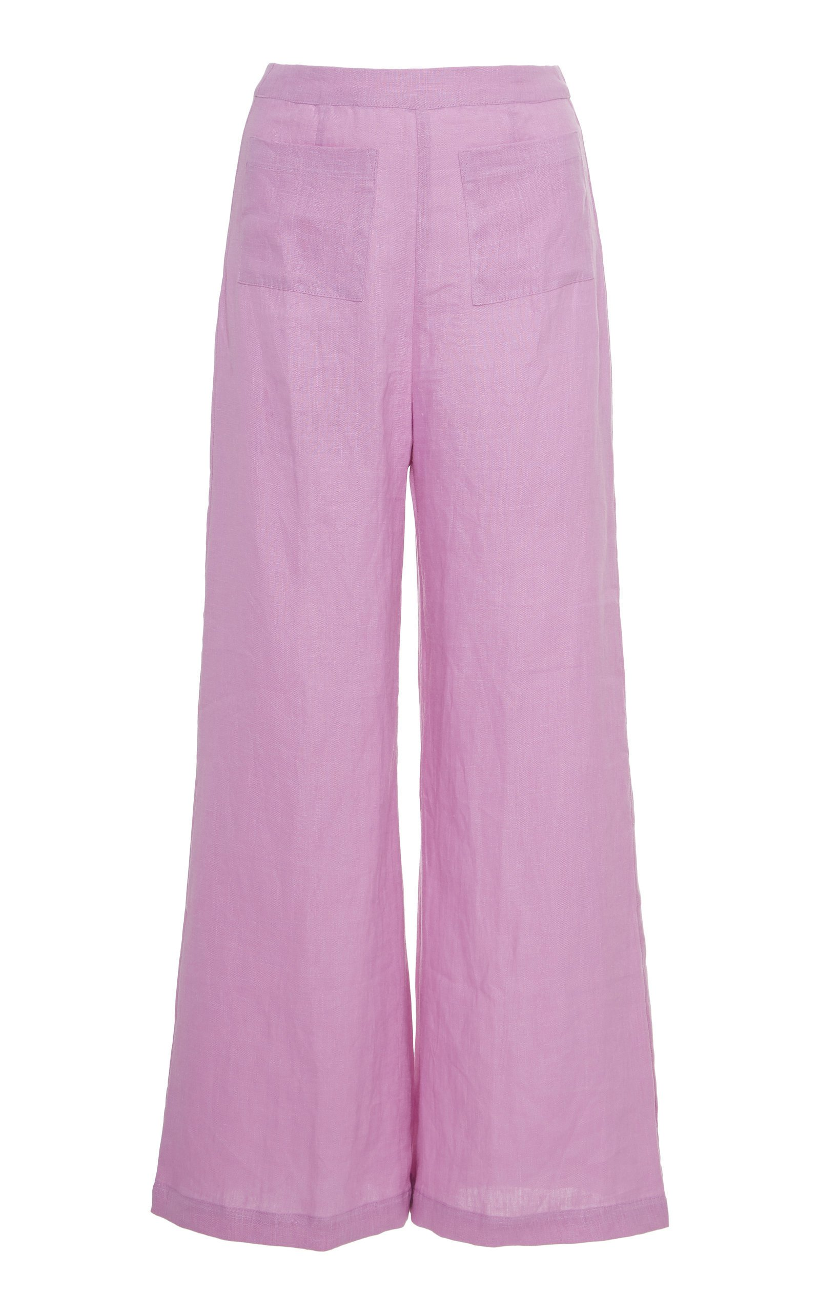 Faithfull The Brand Enia Linen Wide-Leg Pants