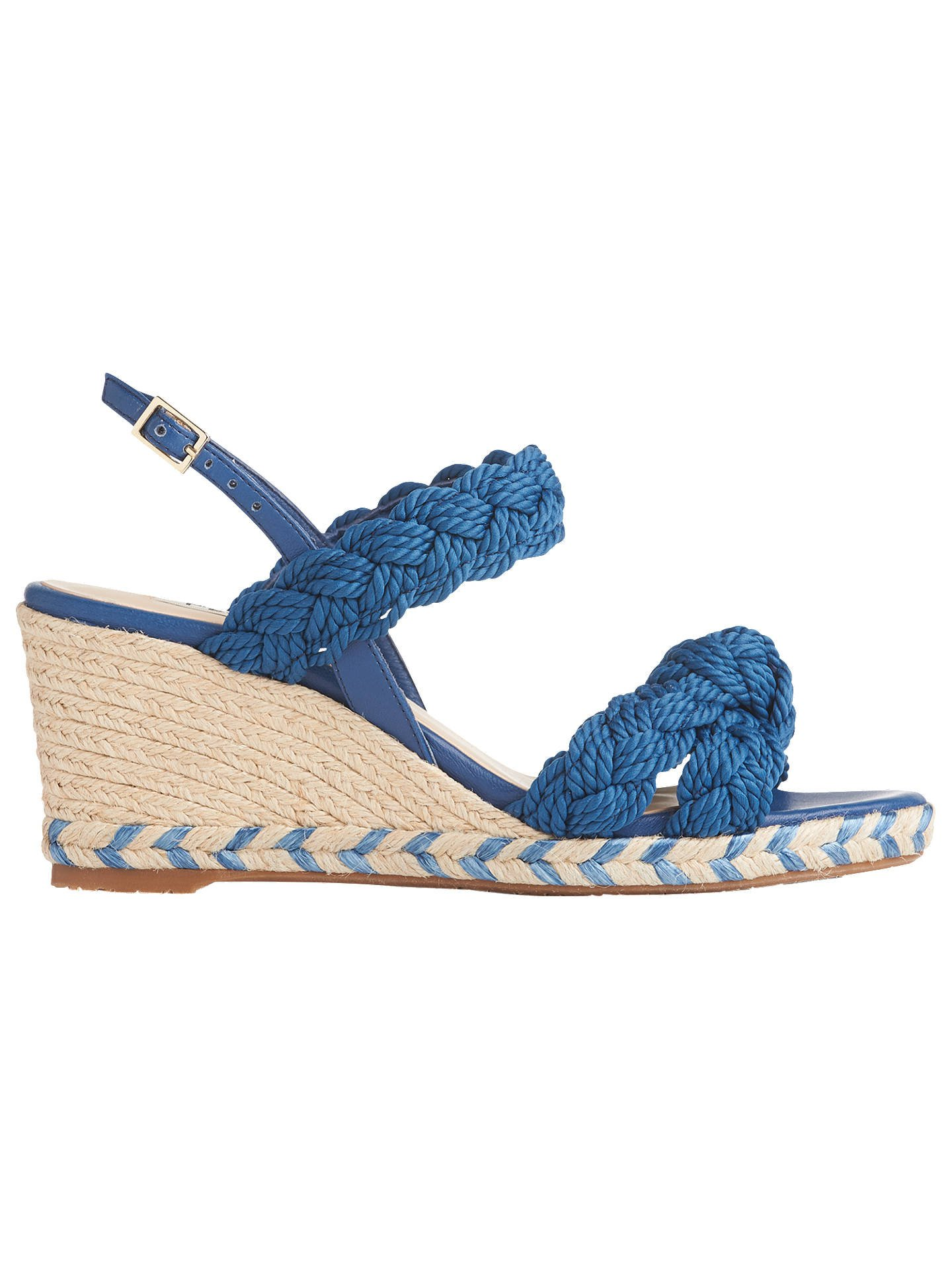 L.K.Bennett Roxie Wedge Heel Espadrille Sandals at John Lewis & Partners