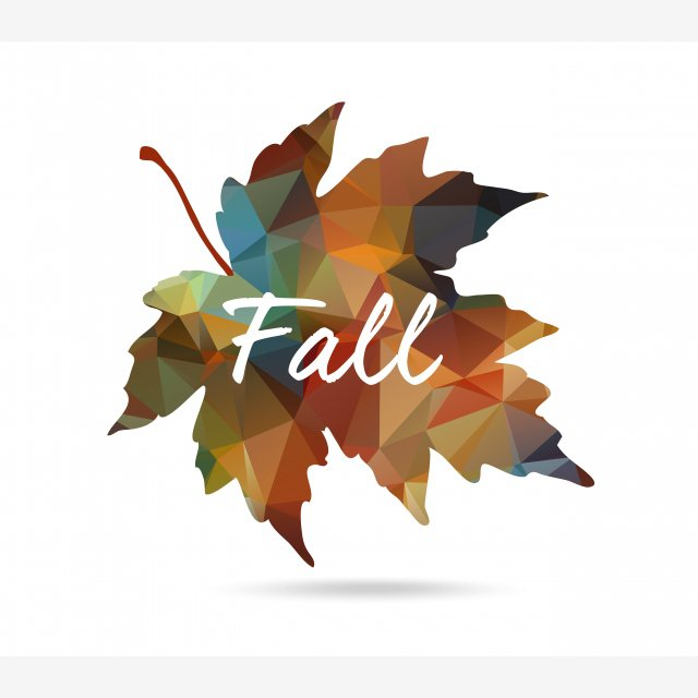 Maple Leaf In Triangular Style With Hand Drawn Word Fall, Autumn, Background, Beauty PNG and Vector with Transparent Background for Free Download