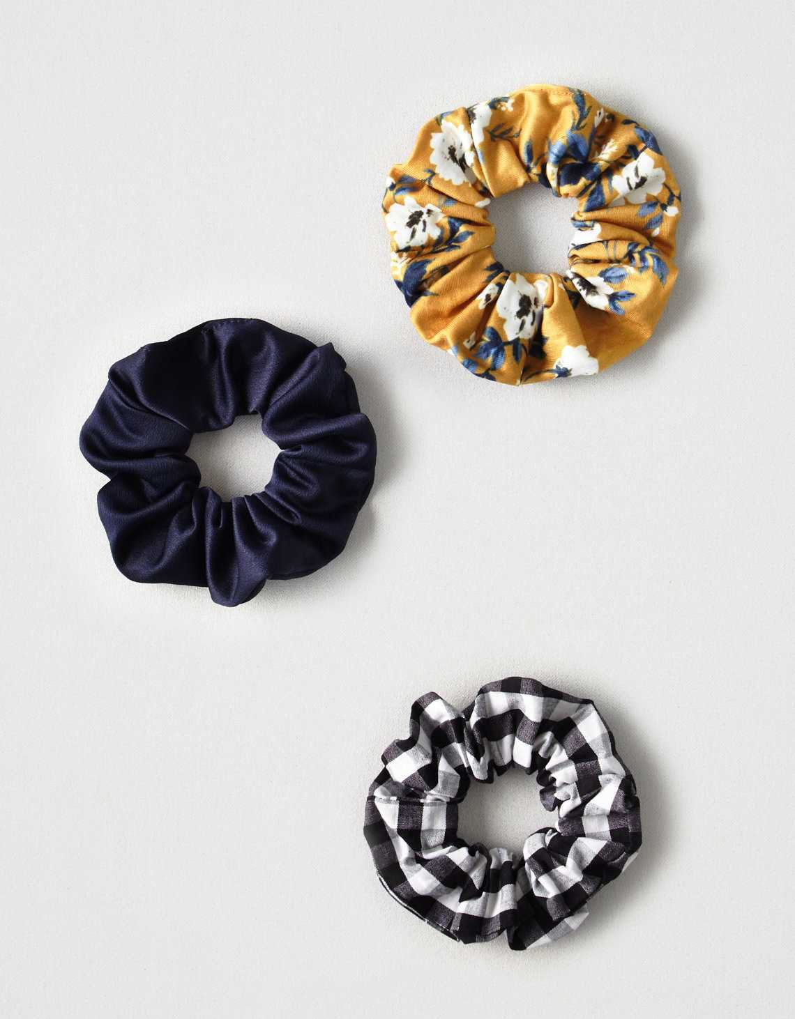 AEO Mixed Scrunchie 3-Pack, Multi | American Eagle Outfitters
