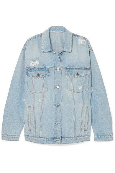 Stella McCartney | Oversized distressed denim jacket | NET-A-PORTER.COM