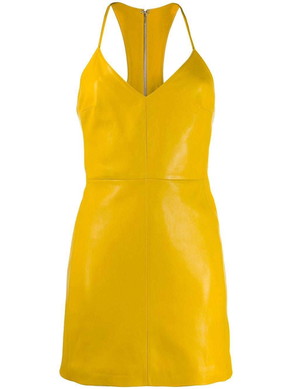 Manokhi Leather Mini Dress