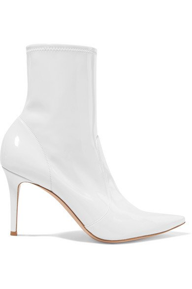 Gianvito Rossi | 85 patent-leather ankle boots | NET-A-PORTER.COM