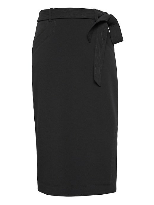 Belted Pencil Skirt with Side Slit | Banana Republic