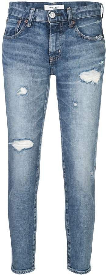 Vintage distressed skinny jeans