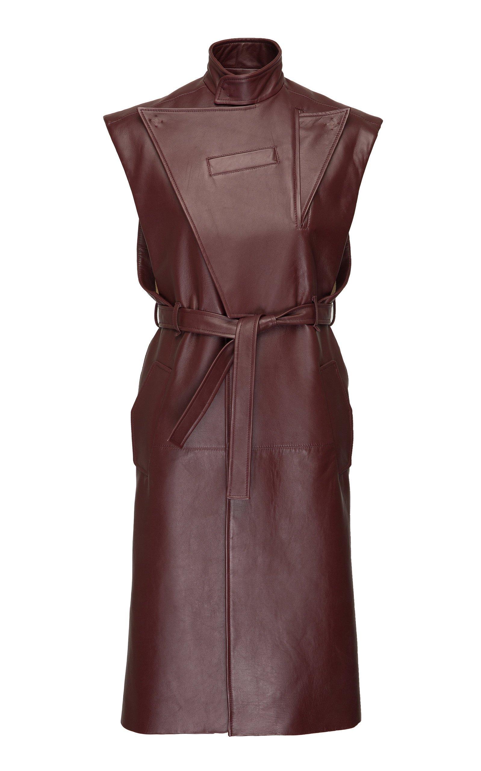 SITUATIONIST Sleeveless Leather Coat