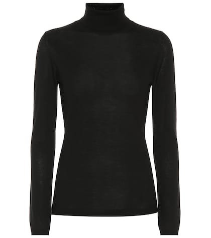 Cashmere and silk turtleneck sweater