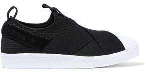 Suede-trimmed Neoprene Sneakers
