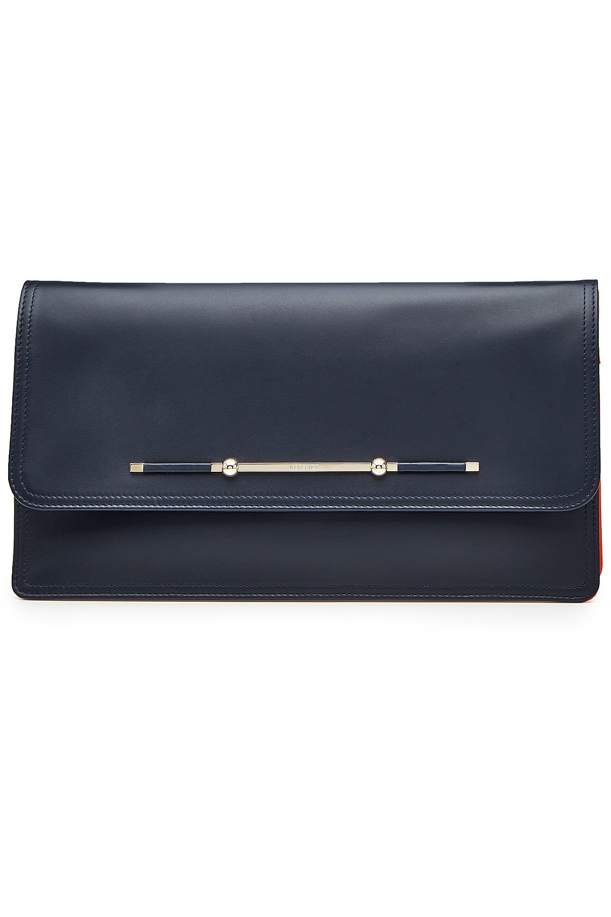Leather Envelope Clutch Gr. One Size