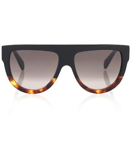 Aviator acetate sunglasses