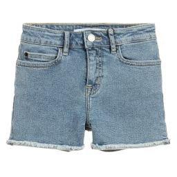 Calvin Klein Jeans - Girls Blue Denim Shorts   Childrensalon