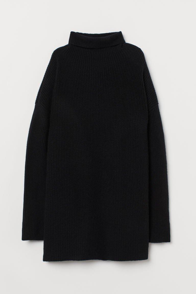 Cashmere Turtleneck Sweater - Black - Ladies   H&M US