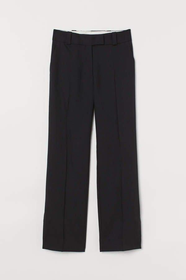 Wool-blend Pants - Black