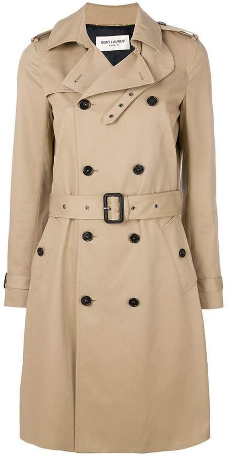 belted classic trench coat