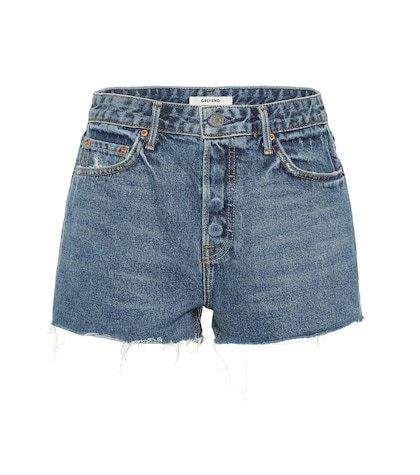 Cindy high-rise denim shorts