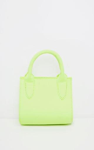 Neon Lime Nylon Mini Grab Bag | Accessories | PrettyLittleThing