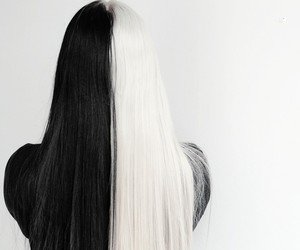Half Black-Half White Hair