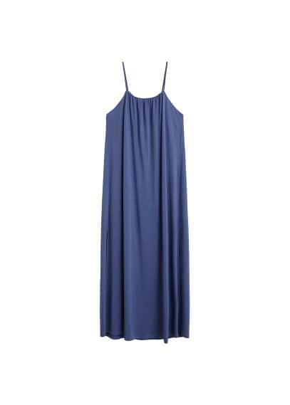 MANGO Long modal dress