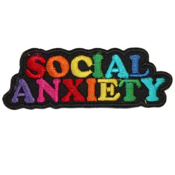 Social Anxiety Patch - Made with Vegan Iron-On Adhesive - Embroidery Sewing DIY Customise Denim Cotton Rainbow in 2018 | k | Pinterest | Patches, Pin and patch…