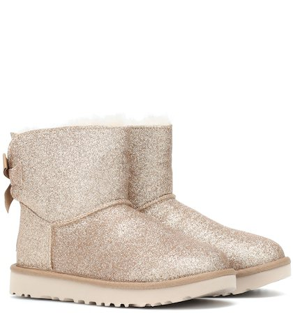 Mini Bailey Bow glitter ankle boots