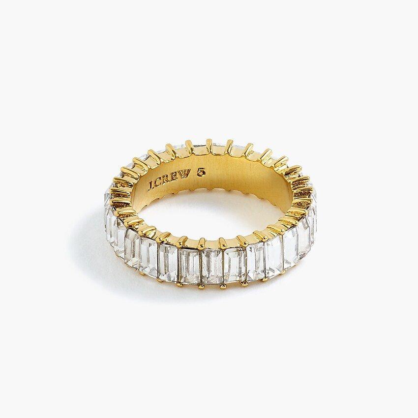 J.Crew: Stackable Baguette Crystal Ring
