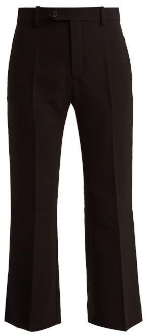 Cropped Crepe Trousers - Womens - Black