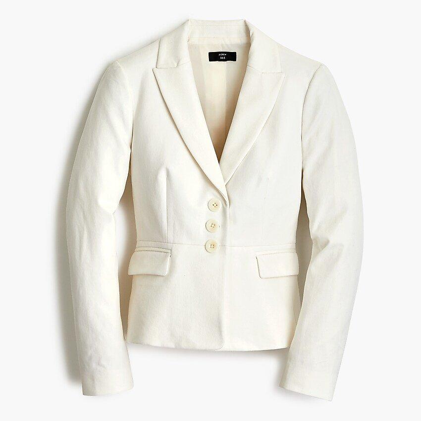 J.Crew: Petite Structured Peplum Blazer In Bi-stretch Cotton