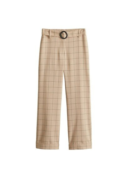 MANGO Check pants