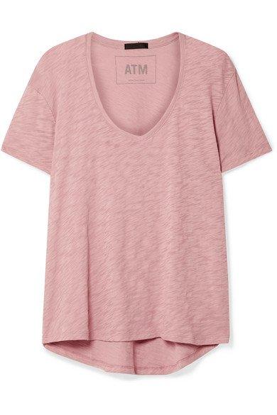 ATM Anthony Thomas Melillo | Boyfriend slub cotton-jersey T-shirt | NET-A-PORTER.COM