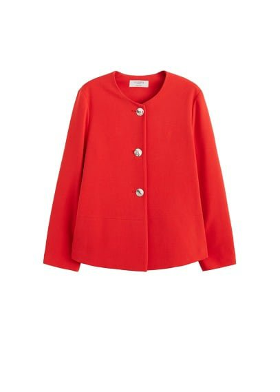 Violeta BY MANGO Contrasted buttons jacket