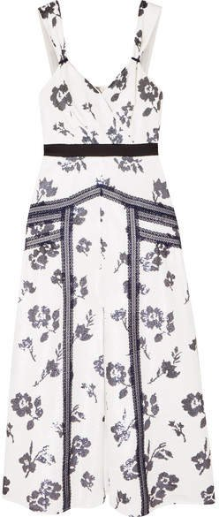 Sequined Crepe Midi Dress - Ivory