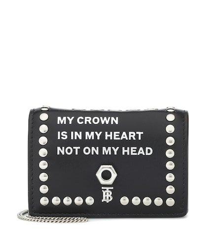 Jessie leather chain wallet
