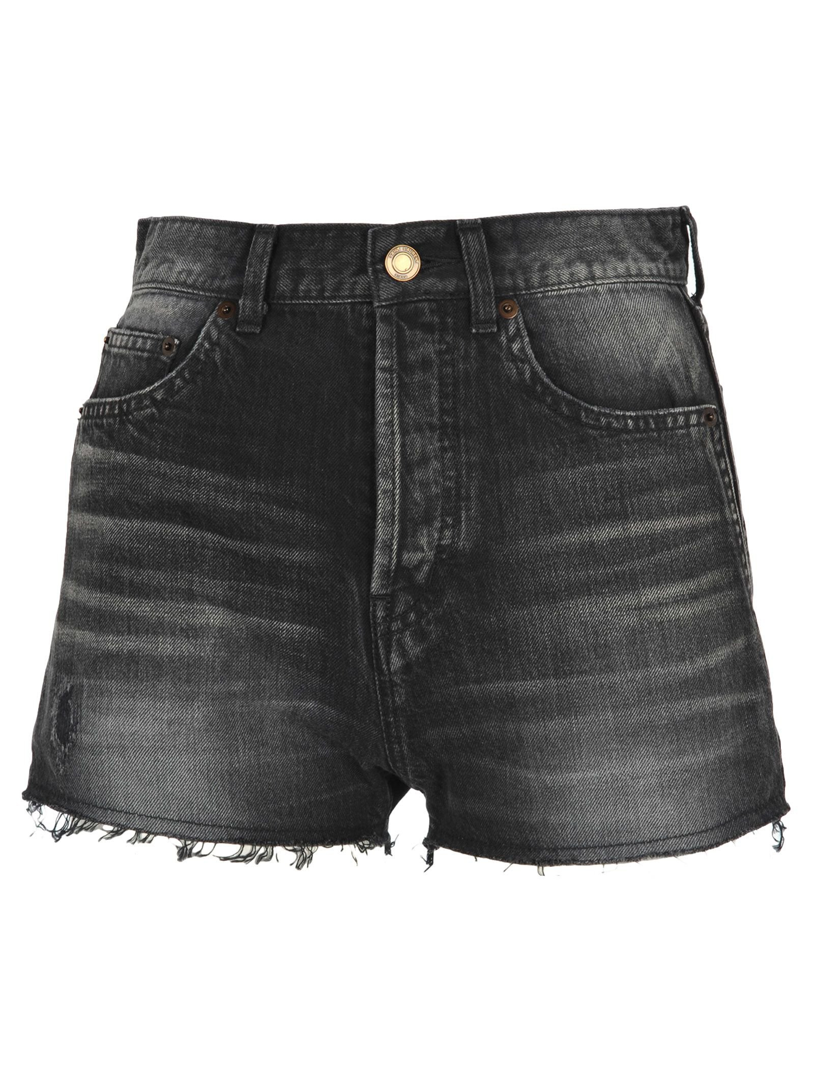 Saint Laurent Saint Laurent Raw Edge Denim Shorts