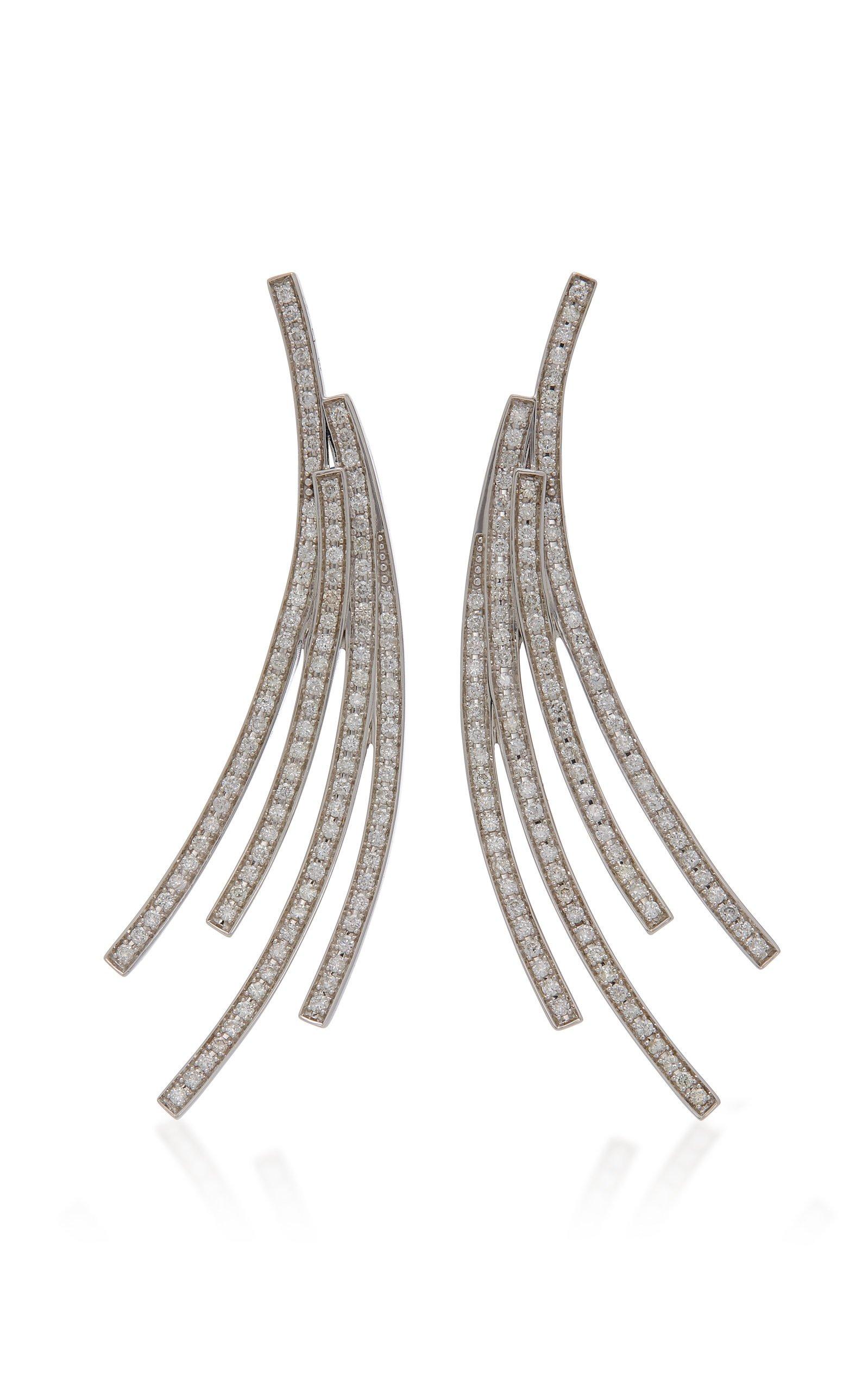 Lynn Ban Jewelry Sterling Silver Diamond Earrings