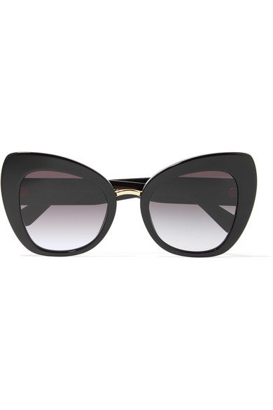 Dolce & Gabbana | Oversized cat-eye acetate and gold-tone sunglasses | NET-A-PORTER.COM