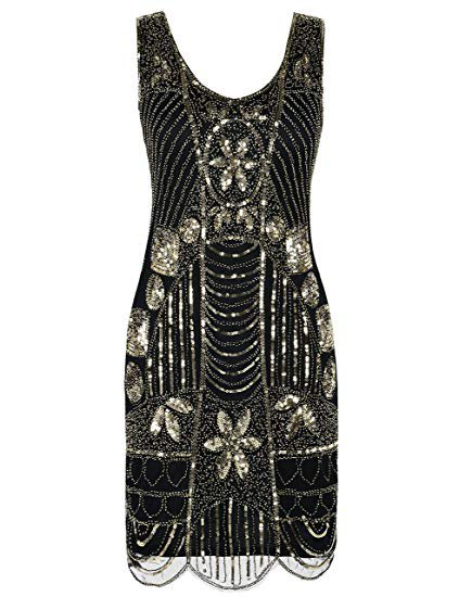 Amazon.com: PrettyGuide Women's 1920s Flapper Dress Gatsby Sequin Scalloped Inspired Cocktail Dress: Clothing