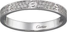 CRB4218200 - LOVE ring, SM - White gold, diamonds - Cartier