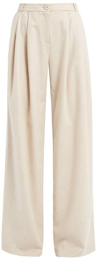 Ethel Cream Wool Blend Trousers