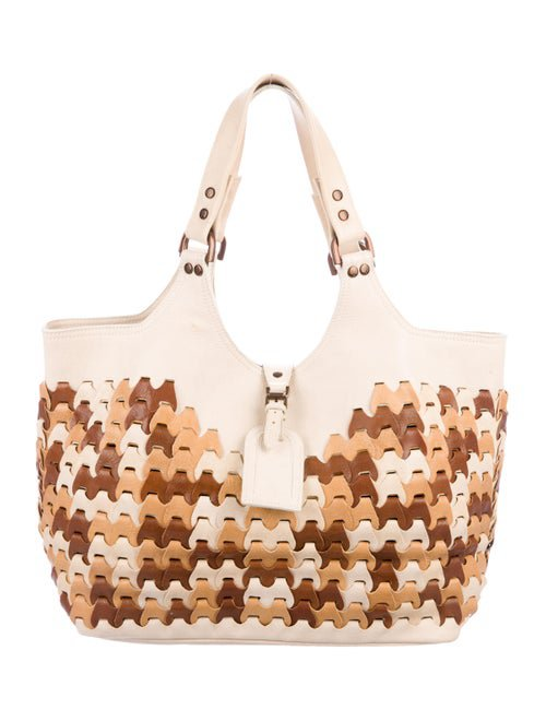 Mulberry Leather Woven-Trim Tote - Handbags - MUL25352 | The RealReal