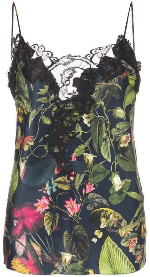 Botanical print cami top