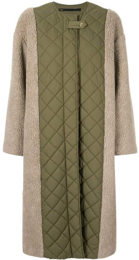 Muller Of Yoshiokubo contrast quilted midi coat