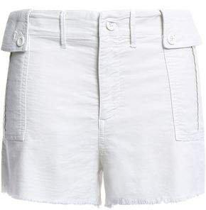 Frayed Cotton Shorts