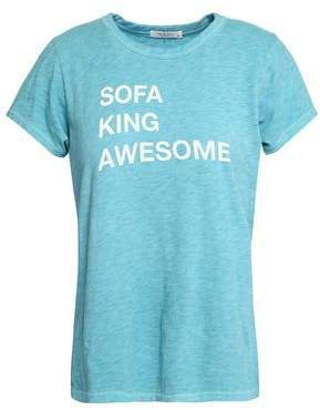 Printed Slub Pima Cotton-jersey T-shirt