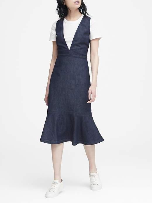 JAPAN EXCLUSIVE Denim Deep V-Neck Dress