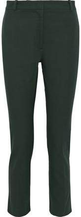 Zoom Cropped Stretch-twill Slim-leg Pants