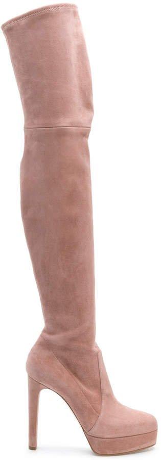 platform over-the-knee boots