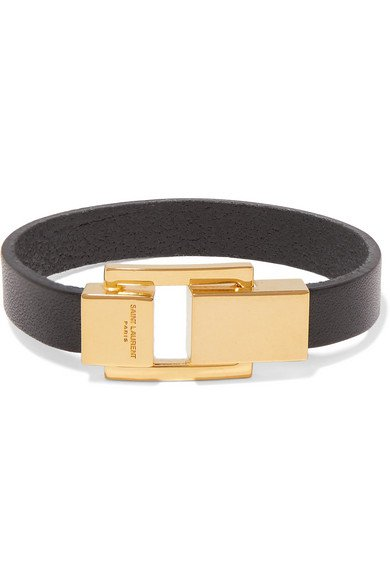 Saint Laurent | Leather and gold-tone bracelet | NET-A-PORTER.COM